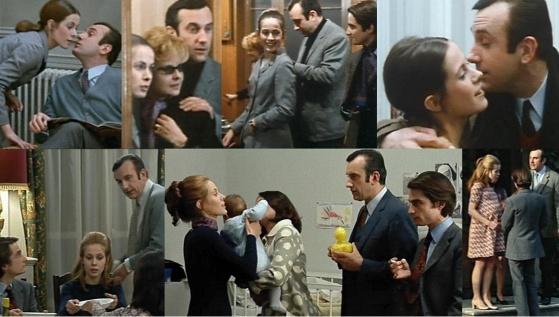 "Daniel Ceccaldi als Lucien Darbon in ""Baisers volés"" (oben) und ""Domicile conjugal"""