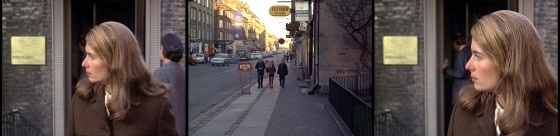 diese Sequenz fehlt heute: Tamara (Tina Hedström) hält Ausschau nach Verfolgern