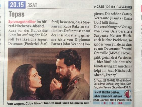 """Heute abend auf 3sat: die alte deutsche Kinofassung von """"Topas"""""""