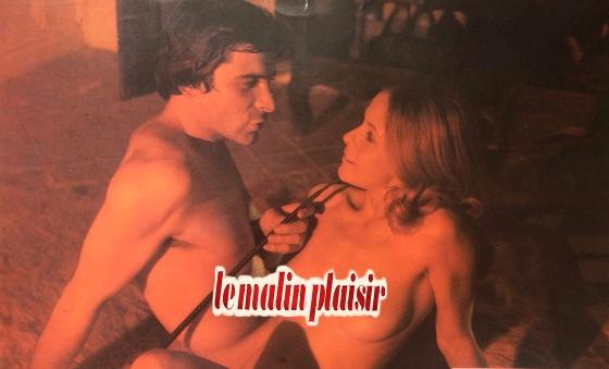 """Claude Jade, Jacques Weber, film """"Le malin plaisr"""" de Bernard Toublanc-Michel, 1974 1975, apres le Roman """"Les plaisirs de mon âge"""" de Francoise Linares"""