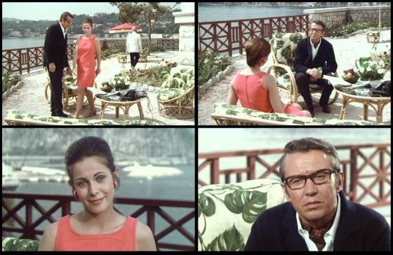 Linda (Claude Jade) enthüllt vor de Villefort (Michel Auclair) Edmond Dantès' wahre Identität.