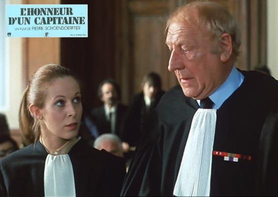Claude Jade, Georges Wilson, L'honneur d'un capitaine, A captain's honor, film de guerre, Pierre Schoendoerffer, film de procés, france