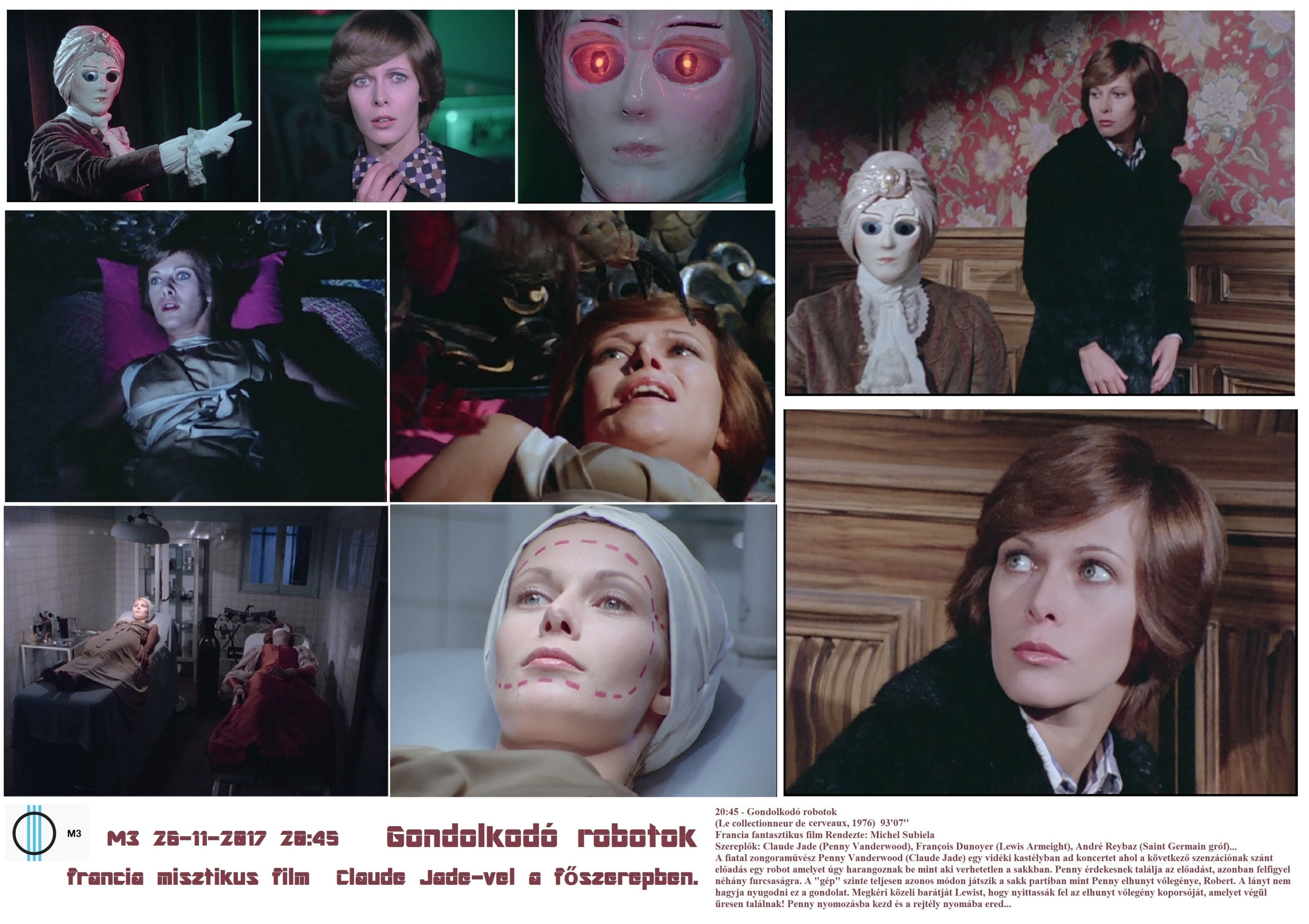 Gondolkodó robotok Collectionneur de cerveaux film fantastique George Langelaan Claude Jade